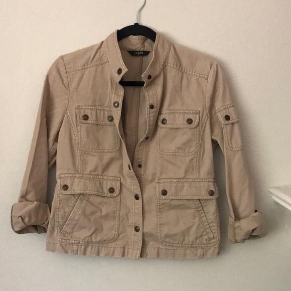 J.Crew khaki denim jacket